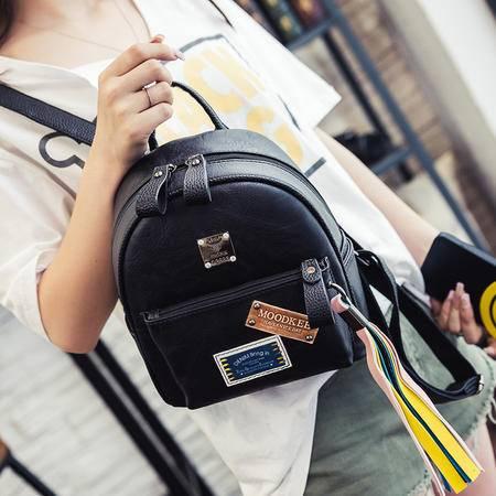 2016夏季新款韩版潮徽章彩色流苏女包学院风双肩包休闲复古小背包