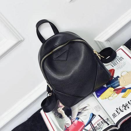 包包2016夏季新款潮流背包韩国双肩包休闲百搭时尚女包拼接学生包