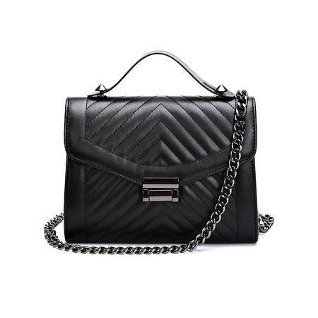 欧美时尚女式包包2016夏季新款女包小包V字纹链条包单肩包菱格包
