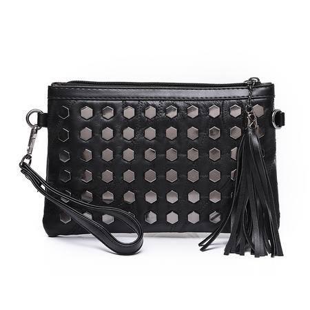 包包2016夏季新款拼接小包单肩包女士包零钱包手机包铆钉女包小包