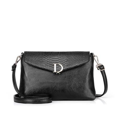 欧美时尚女式包包2016夏季新款D字扣小包单肩包简约气质通勤女包