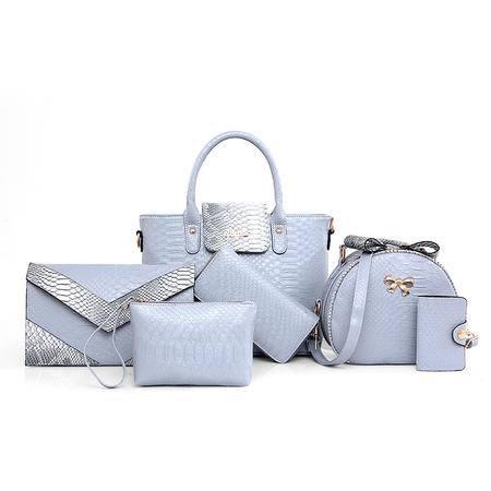 欧美时尚女式包包2016夏季新款潮子母包六件套拼接纹多用女包大包