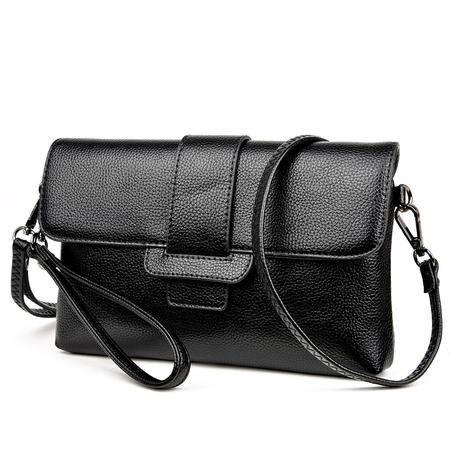 品牌正品包包2016新款欧美时尚女包软面信封包复古单肩包
