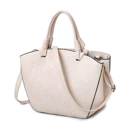 女包包2016秋季新款欧美时尚百搭包压花子母包气质手提包