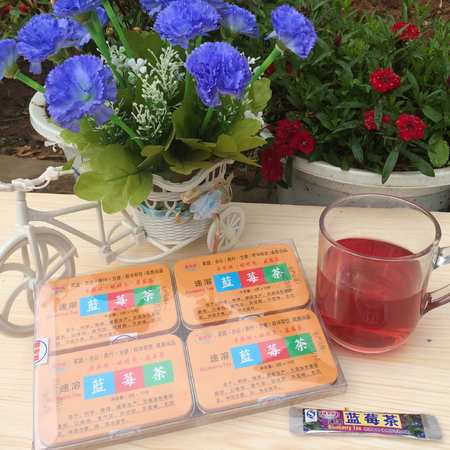 普农旺 亮眼 携带方便 香浓速溶蓝莓茶 马铁盒10片装