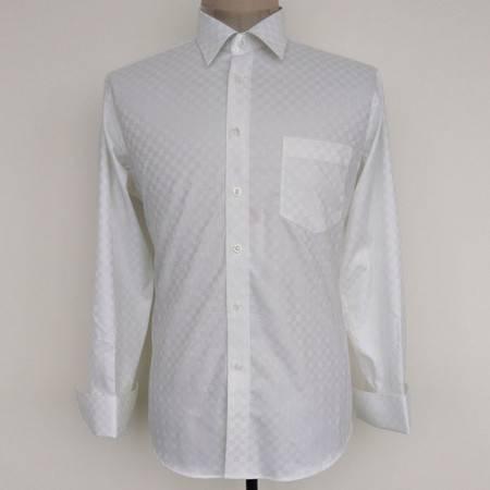新款许世达男士纯棉免烫衬衣正品男式双丝光棉长袖衬衫