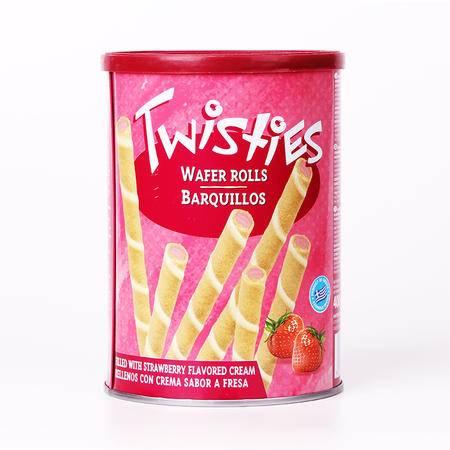 欧洲进口零食品爱芬乐翠斯迪夹心威化棒卷心酥草莓400g包邮买一送一