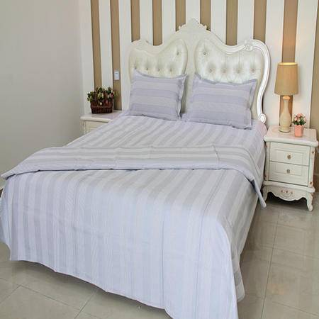 张家坊 纯棉粗布 条纹 床单 004