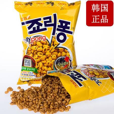 韩国进口零食CROWN可瑞安大麦粒89g膨化食品爆米花粗粮