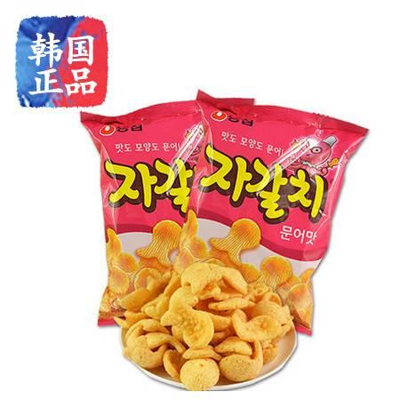 韩国进口食品农心章鱼片韩国零食章鱼形90g膨化零食