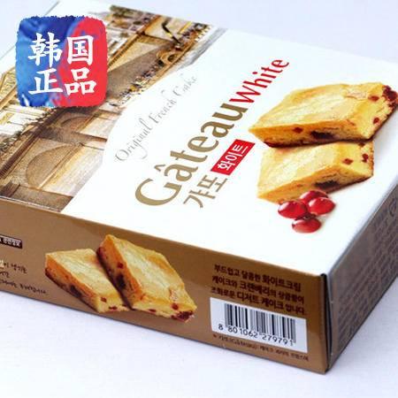 韩国进口零食品乐天LOTTE奶油樱桃蛋黄派巧克力派奶酪酸梅派120g