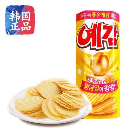 韩国好丽友碳烤薯片60g进口零食品膨化薯片薯饼奶酪薯片土豆片