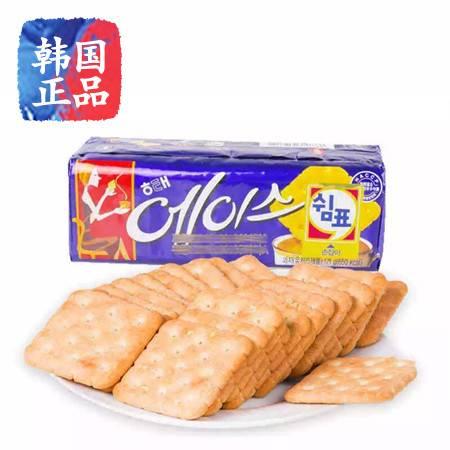 韩国进口零食品HAITAI海太ACE含糖咸味苏打饼干121g袋装