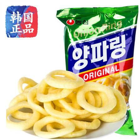 韩国进口零食品膨化食品农心原味洋葱圈 84g
