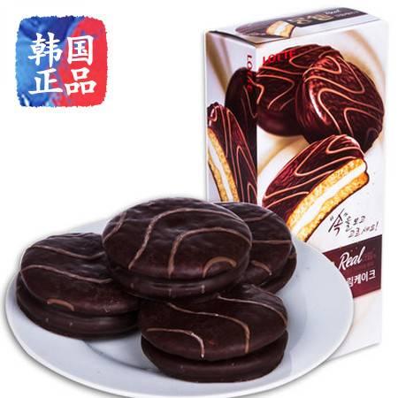 韩国进口 糕点 乐天梦雪奶油派192g/盒 零食蛋糕