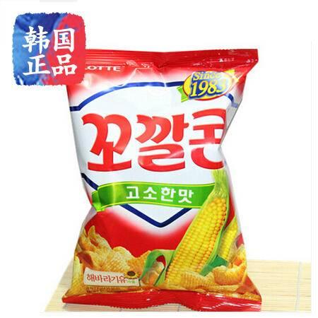 韩国进口乐天蜂蜜黄油薯片妙脆角66g办公室休闲膨化零食小吃