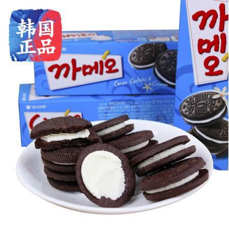 韩国进口休闲零食品 好丽友奶油夹心饼干77g 奥利奥巧克力饼干