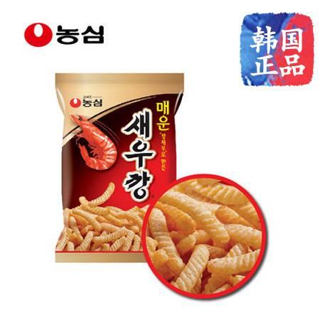 韩国进口农心/NONGSHIM 辣味鲜虾条 90g*1袋膨化