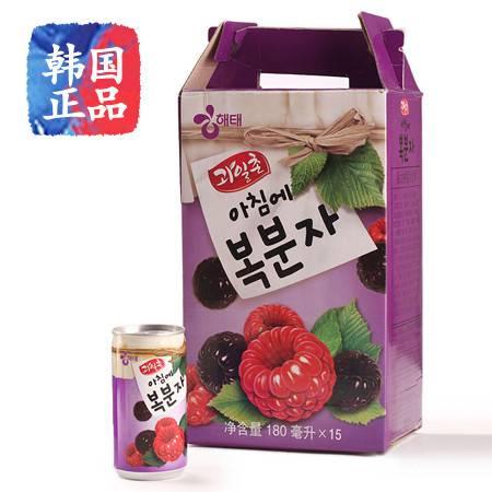 树莓海太果汁韩国进口果汁饮料180ml*15听装