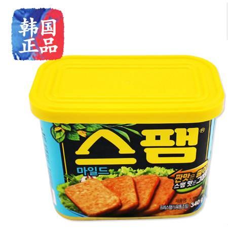 韩国进口 SPAM午餐肉罐头340克 进口午餐肉淡味Mild