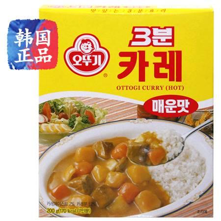 韩国进口食品 不倒翁奥士基3分钟咖喱辣味 200g 速食盖饭拌饭酱料