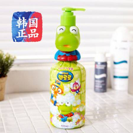 韩国进口宝露露pororo婴儿宝宝洗发水儿童洗发露植物原料安全绿色400ml
