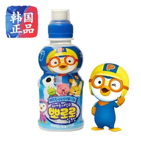 pororo韩国进口啵乐乐牛奶味饮料235ML 宝露露果味儿童饮料