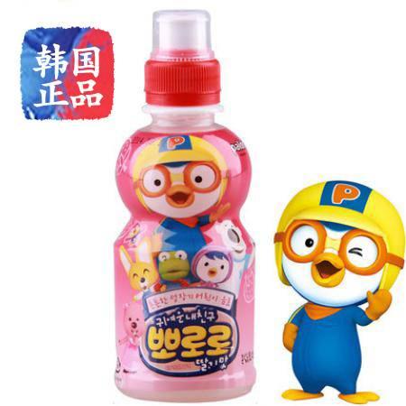 pororo韩国啵乐乐进口儿童饮料 草莓味235ml乳酸菌儿童饮料