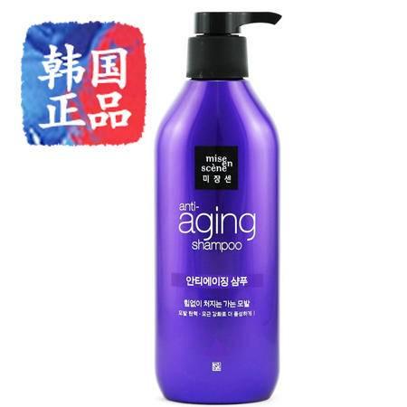 韩国进口miseenscene爱茉莉美妆仙黑珍珠洗发水450ml发根强化柔亮