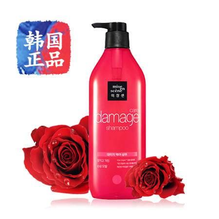 韩国进口miseenscene爱茉莉美妆仙玫瑰染烫修复柔顺洗发水450ml