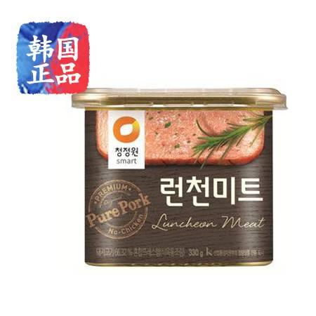 韩国进口午餐肉罐 清净园高钙精肉午餐肉罐头330g 猪肉罐头