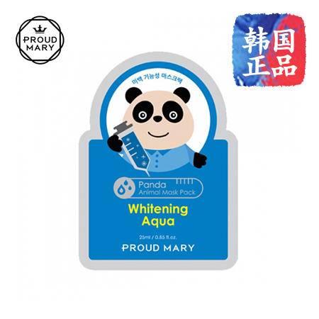 韩国进口 Proud Mary 保持水分和美白功能的熊猫面膜 25g