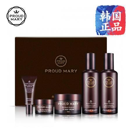 韩国进口 Proud Mary 药妆三倍补水套盒4件套保湿活肤控油男女套装