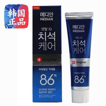 韩国国进口 爱茉莉麦迪安86 美白牙膏 强效清除牙垢 去牙结石120g