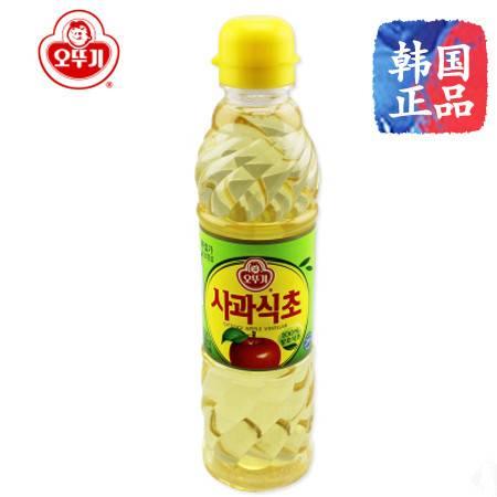 韩国原装进口 调料品 不倒翁 奥土基 食用料理消毒 苹果醋 500ML