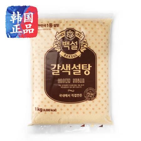 韩国进口白雪牌 黄糖 白雪黄糖 家庭必备 1kg