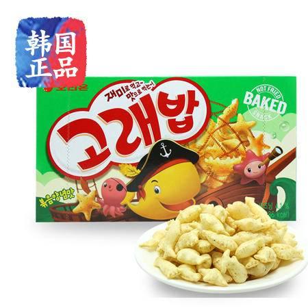 韩国进口好丽友好多鱼饼干40g鲸鱼饭 健康零食