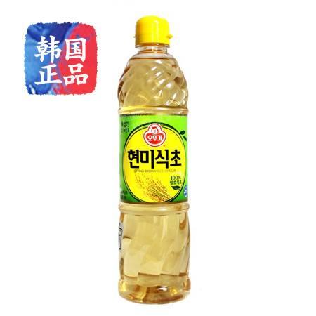 韩国进口食品调料奥土基/不倒翁酿造玄米醋 寿司食用醋900ml