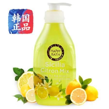 韩国进口 爱茉莉Happybath柠檬香水沐浴露 清凉舒爽持久留香500g