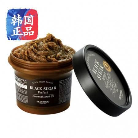 韩国正品SKIN FOOD 黑糖光采洁面霜 210g