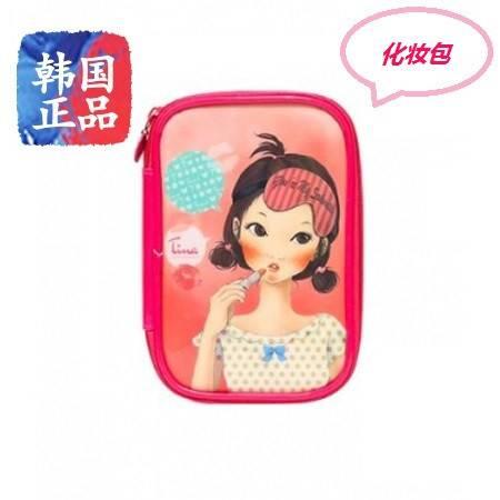 韩国正品Fascy 发希油画风唯美女孩化妆包  #6涂口红的Tina