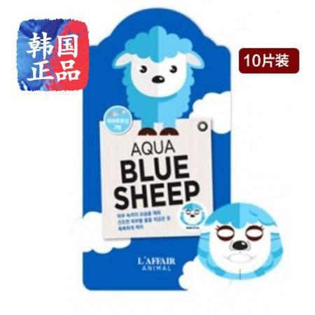 韩国正品L'AFFAIR彩虹小羊保湿水样面膜10片装