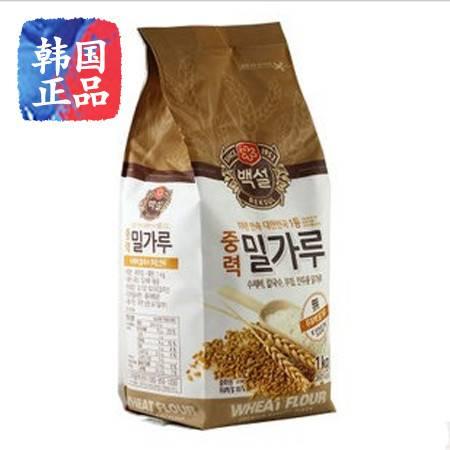 韩国原装进口 CJ 白雪 面粉 食用中力优质麦粉 1000克
