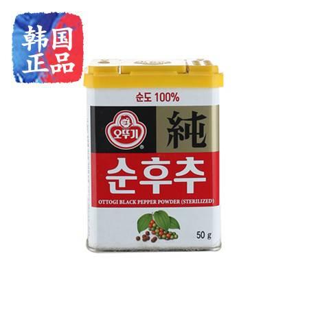 韩国原装进口调料 不倒翁纯胡椒粉 黑胡椒50克