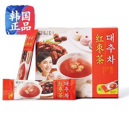 韩国进口丹特红枣茶15条盒装养生茶松子大枣杏仁冲饮225g