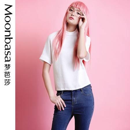 Moonbasa/梦芭莎韩伊儿韩风轻熟女时尚新颖风琴褶特殊立领小衫