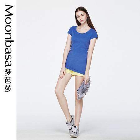 梦芭莎女装 舒适全棉修身针织连衣裙式T恤032214225