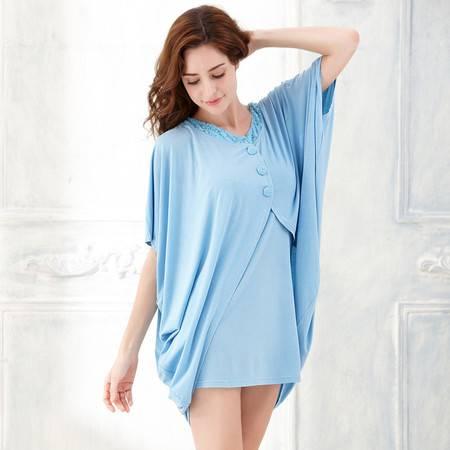 梦芭莎 性感蕾丝吊带裙加披肩家居两件套 女士睡衣 2015夏