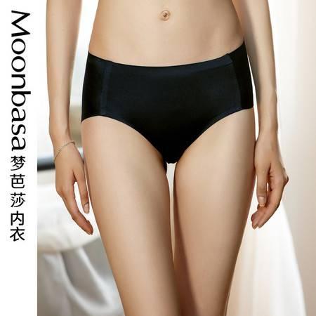 Moonbasa/梦芭莎无痕百搭精工贴合舒适中腰平角三角女士内裤