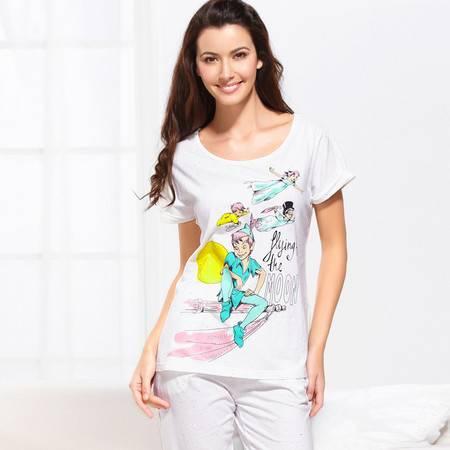 Moonbasa/梦芭莎特色印花彩点棉家居服套装 012013202